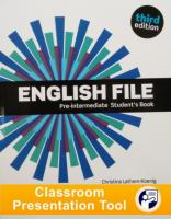 English File 3rd edition Pre-Intermediate Student's Book Classroom Presentation Tool